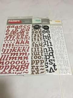 Letter stickers