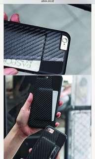 BLACK CARBON SLOT CARD CASE