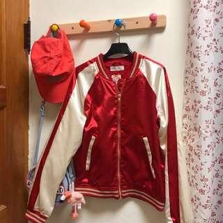 🚚 H&M 飛行外套 刺繡外套 橫須賀外套