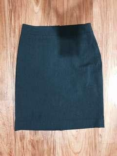 UNIQLO PENCIL SKIRT BLACK W/ STRIPE HIGH WAISTED