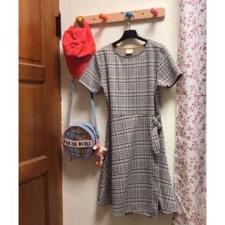 🚚 Zara 洋裝 格紋洋裝