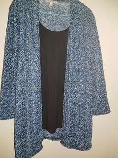 Bling blue top with inner