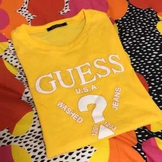 🚚 Guess 上衣 黃色
