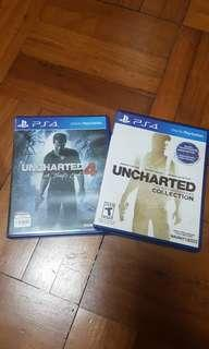 PS4 Uncharted collection and Uncharted 4 bundle