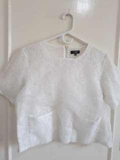 Zalora White Lace Top