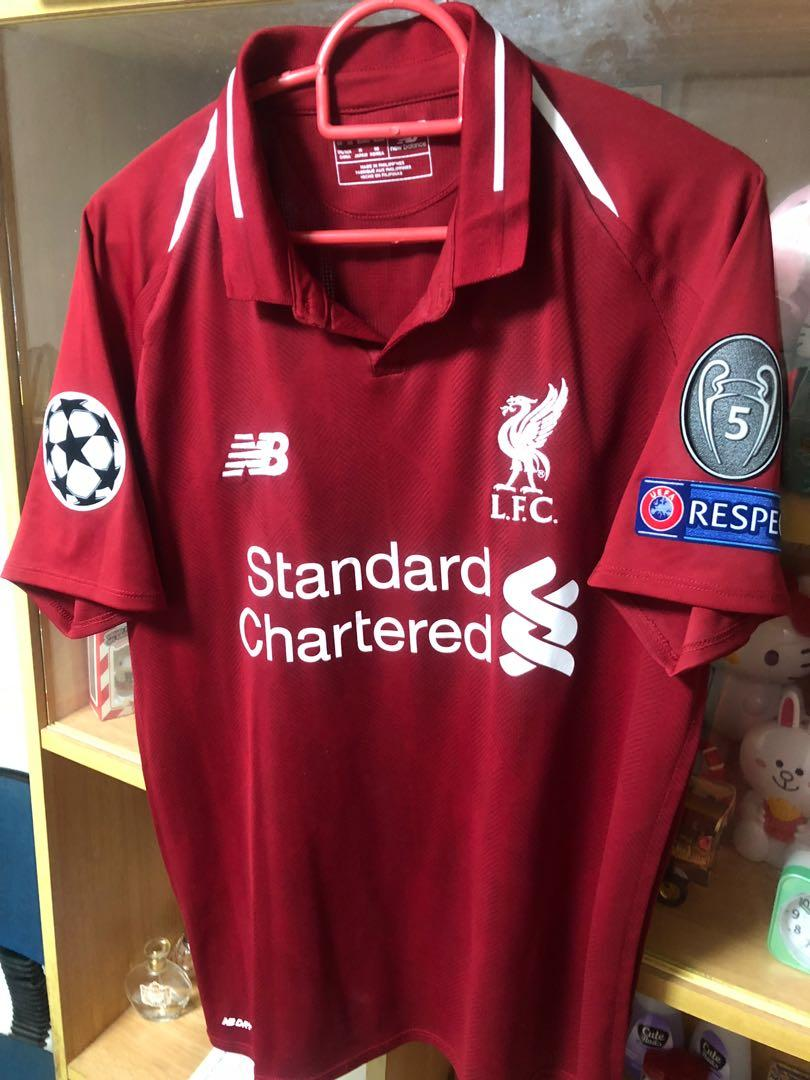 new arrival 6e2e6 7285b 18/19 Liverpool Home jersey UCL edition With Named Firmino ...