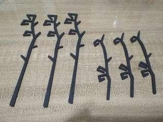 Set of 6 stirring rods