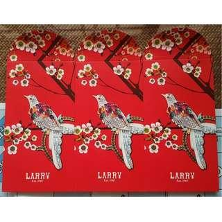 3 pcs Larry Exclusive Bird and Floral Red Packet / Ang Bao Pow Pao Pau / Sampul Duit