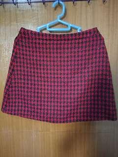 Zalora Red & Black Pattern Skirt