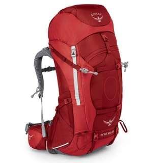OSPREY ARIEL AG 65 L PICANTE RED WS hiking camping backpack 童軍 遠足 行山 露營 背囊 背包 登山包