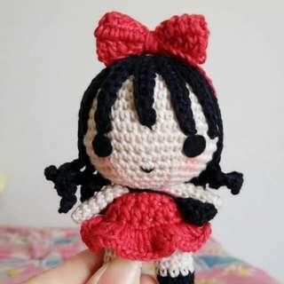 MiniMe boneka rajut bagcharm gantungan tas style fashion ootd handmade