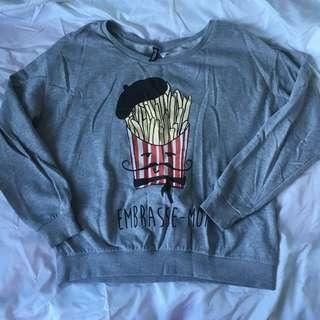 H&M fries sweater