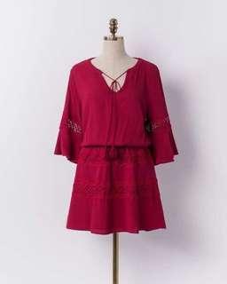 🚚 Mercci22 蕾絲花樣洋裝