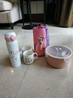 Lunch box,set semuanya