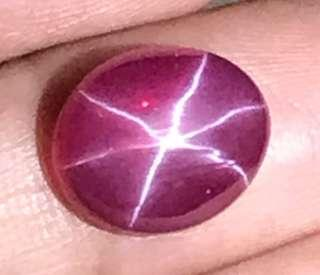 6.75 cts Red Ruby Star 10 x 12mm Lab Treated Oval Loose Gem