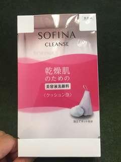 Sofina 最新乾脆肌洗臉膏連起泡網