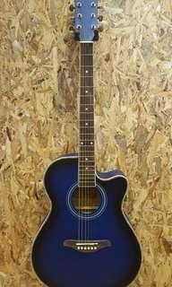 TengHai TH-40A BLS 40 inch acoustic guitar Blue New