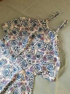 Haltered floral dress