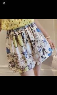 Butterfly Floral short skirt / Skort
