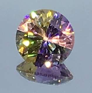 20.15 cts Cubic Zirconia Multi Color Round Lab Treated Round 14 mm Loose Gem