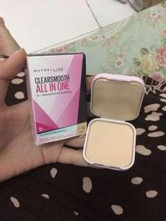 bedak maybelline clear&smooth