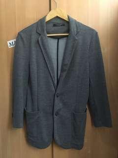 Zara Man Light Blazer (Charcoal Gray)