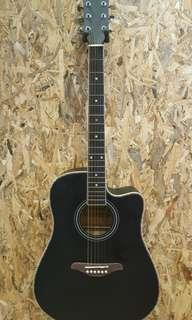 TengHai TH-41A BK 41 inch acoustic guitar Black New 2018