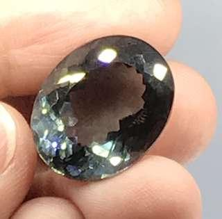 21.90 cts Silver Grey Spinel Oval Lab Treated 15.9 x 20.1 mm Loose Gem