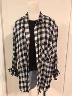 Black and White Flanel