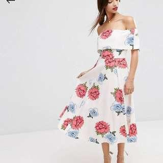ASOS off shoulder occasion dress