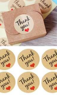 Craft Thank You Stickers