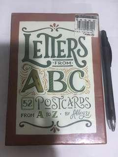 Letters from ABC postcards
