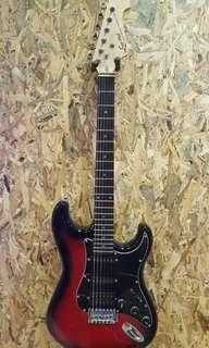 Ever Play electric guitar Red Sunburst Brand New