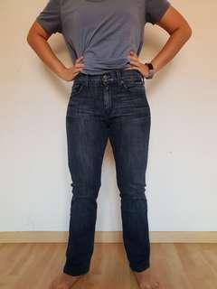 7 seven for all mankind high waist straight leg women jeans.
