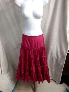 Sale * JAPONICA Red Flare Skirt
