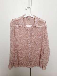 FOREVER21 floral chiffon blouse