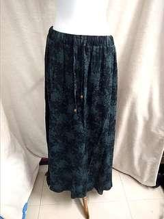 Sale * Arcadia linen emerald green skirt