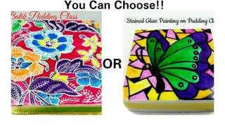 Batik Pudding OR Stained Glass Painting Pudding Workshop Cake