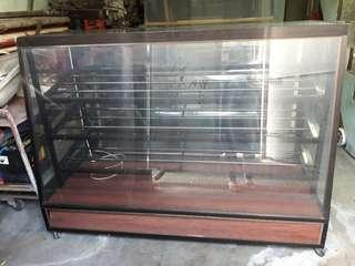 Glass display bread cabinet