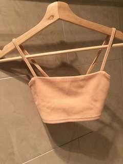 Nude pink Cropped top