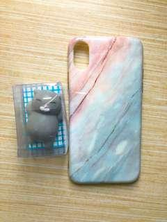 Marble Case Iphone X + free mini squishy
