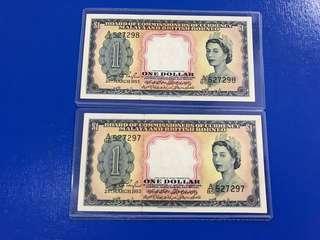 🚚 Malaya and British Borneo $1 running numbers