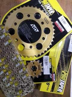 PROTAPER GOLD ORING CHAIN+SPROCKET FOR Y15ZR