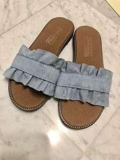Blue slippers size 36