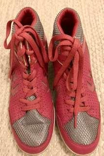 REPRICED Hot Pink/Grey Silver Hi-Top Sneakers