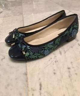 Kimberly Jean Embroidered Flats Size 36