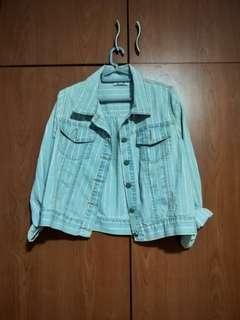 Light Striped Denim Jacket