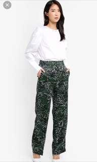 MANGO floral satin pants