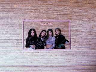 BLACKPINK transparent card
