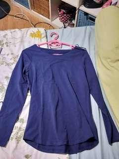 Indigo (Purplish - blue) Long sleeve Top